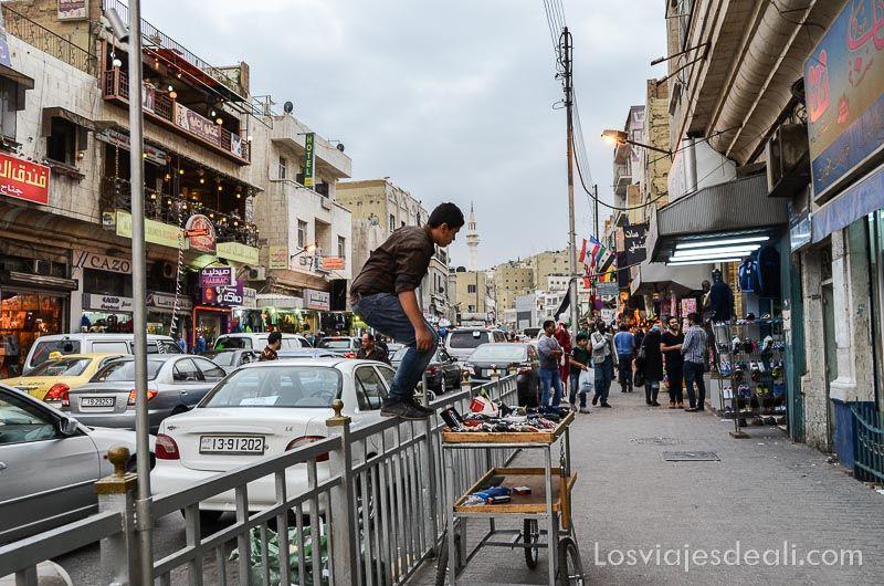 calles de Amman la capital de Jordania