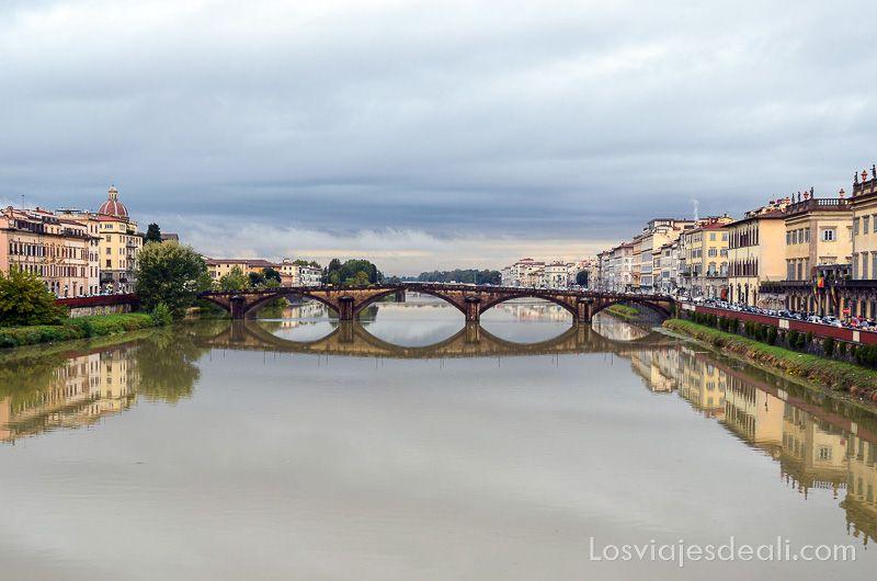 florencia puentes del arno río