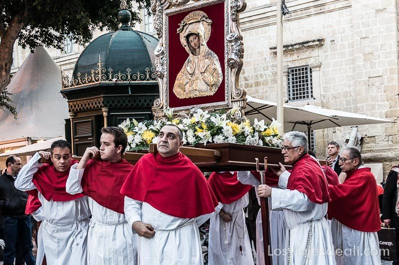 procesión en La Valeta Viaje a Malta