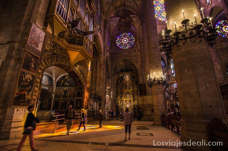 palma de mallorca monumental interior catedral