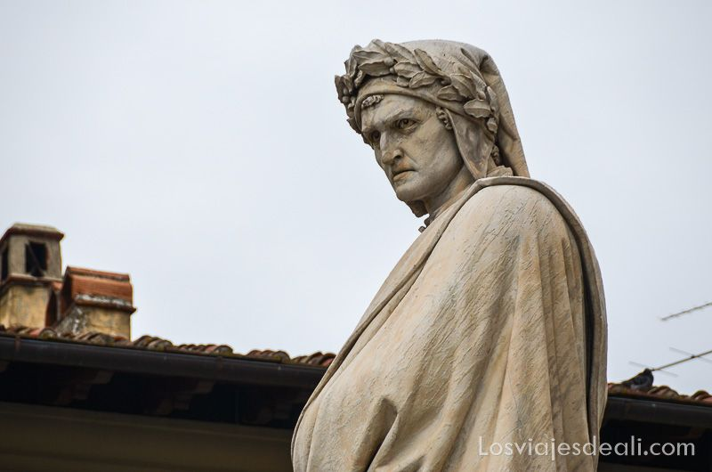paseo por florencia estatua dante