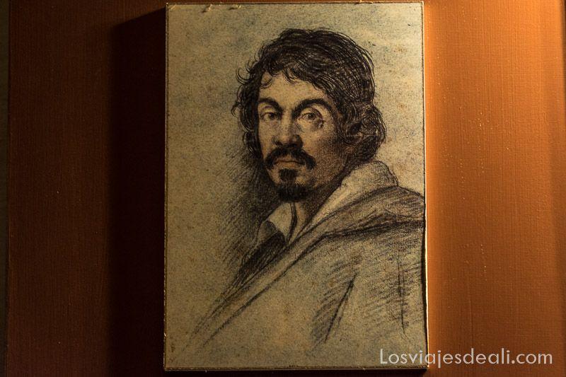 retrato de Caravaggio en La Valeta