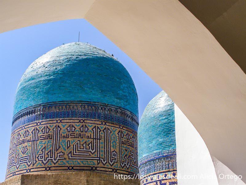 cúpulas azules de Samarcanda