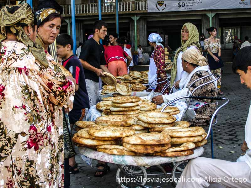 venta de pan en Samarcanda