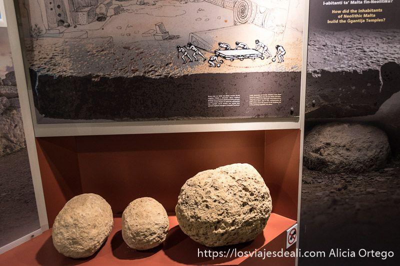 arqueologia en malta piedras circulares