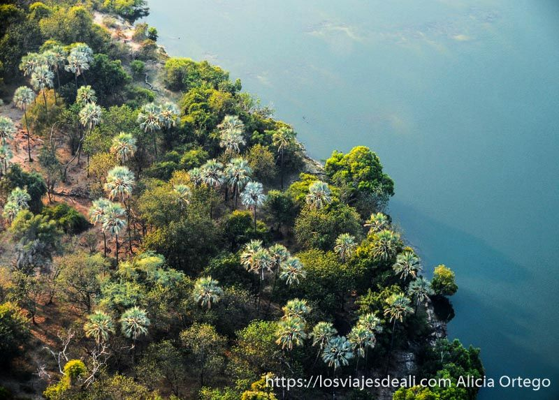 vuelo sobre las cataratas victoria orilla zambeze