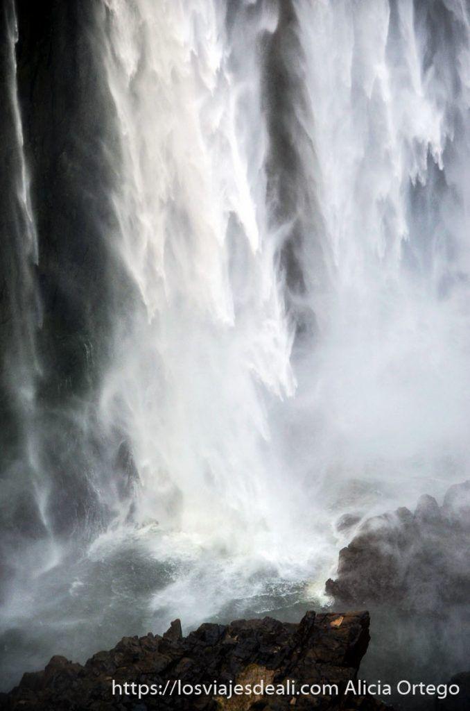 caída de agua en las cataratas victoria