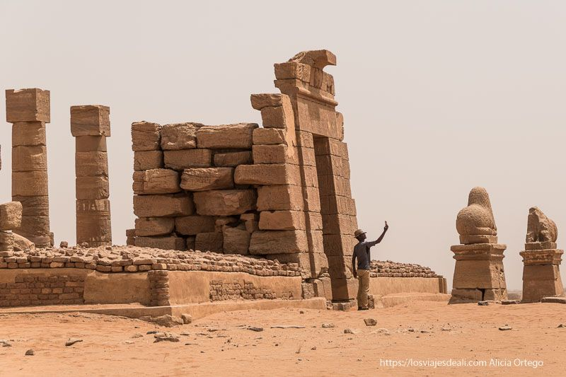 guía de viaje a Sudán templos egipcios de Naqa
