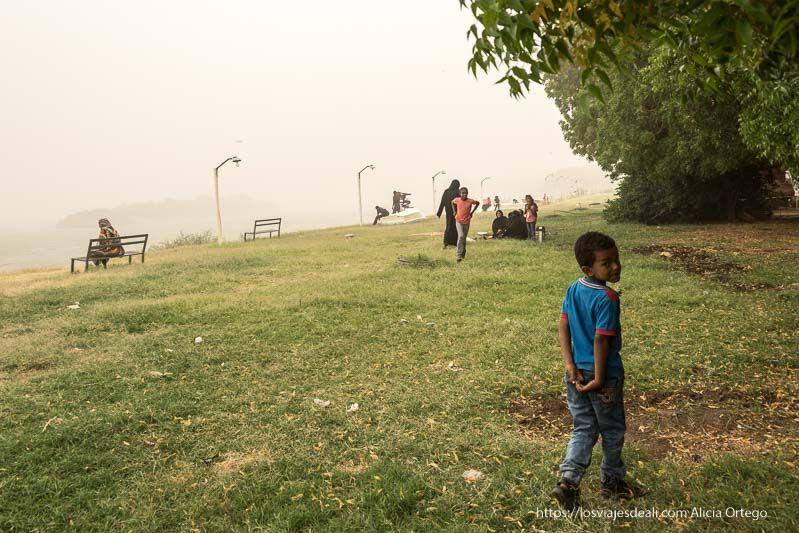 visita a al khandaq en el primer día en Sudán