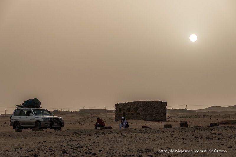 puesta de sol en Karima, Sudán