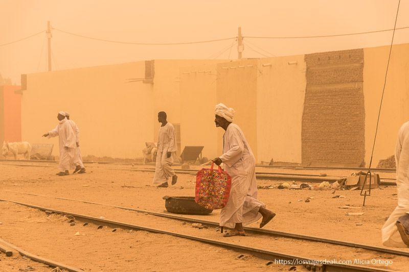 tormenta de arena en Sudán