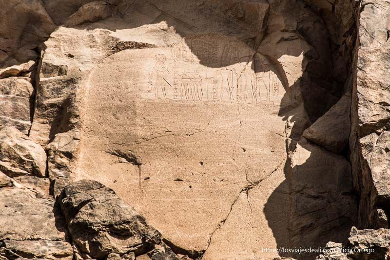 estela del antiguo egipto cerca de la tercera catarata del Nilo