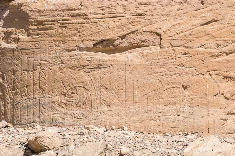 relieves de Sesibi cerca de la tercera catarata del Nilo