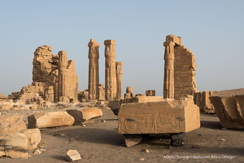 templo de soleb en Sudán