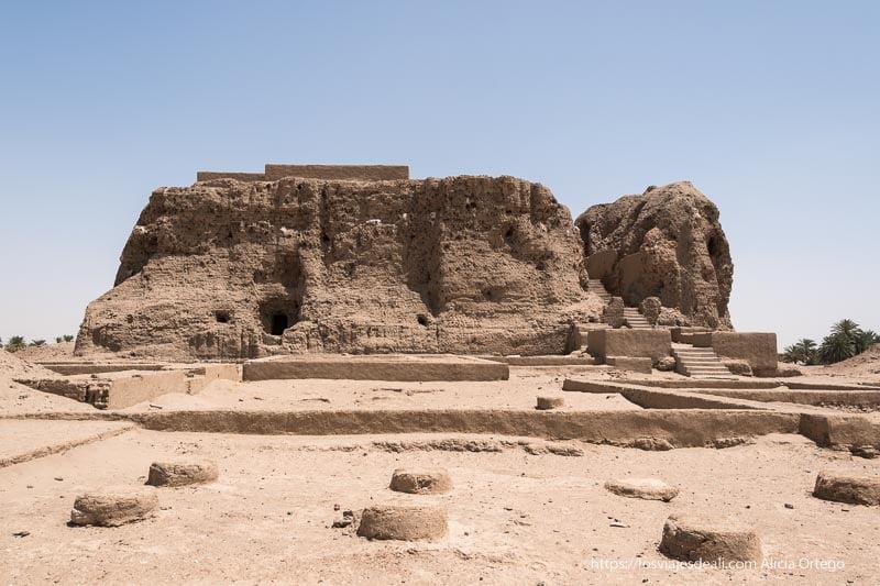 palacio de la antigua civilización de kerma en Sudán
