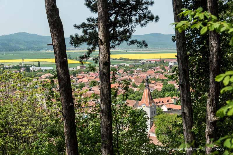pueblo de Rasnov desde las alturas