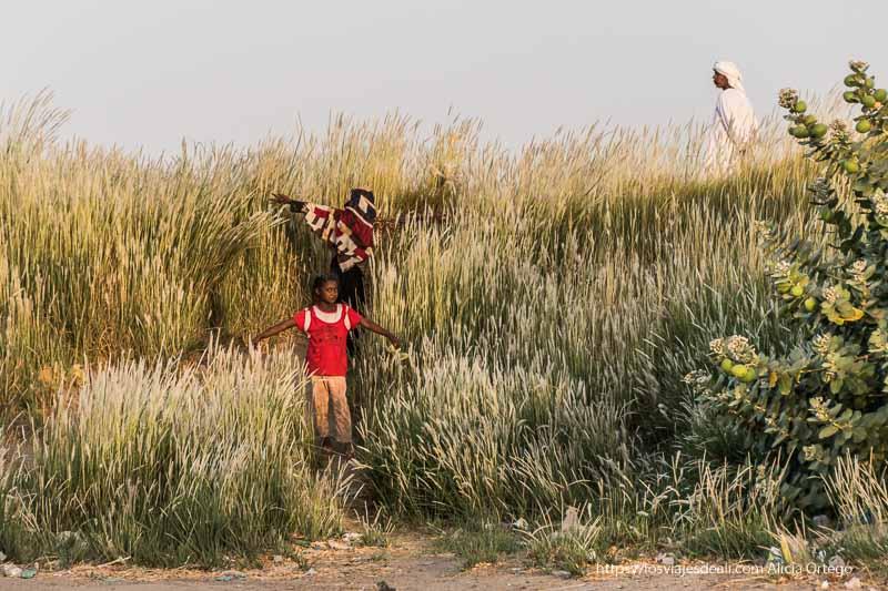 niñas jugando en el atardecer de Tombus es sudán