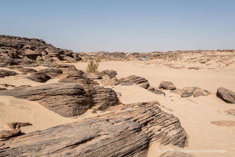 wadi farjja donde hay grabados rupestres en Sudán