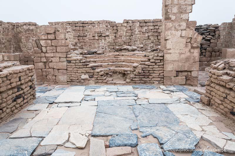 pavimento de mármol del monasterio de Ghazali en Sudán