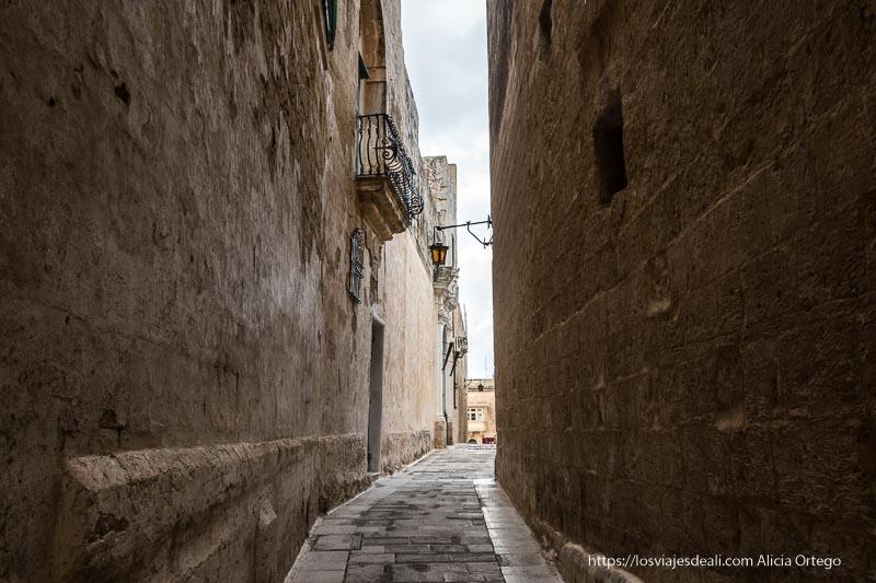 calles estrechas de Mdina