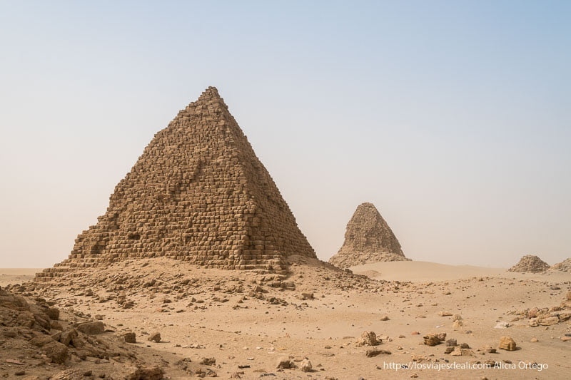 pirámides de Nuri cerca de Karima Patrimonio de la Humanidad de Sudán
