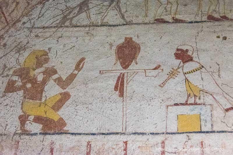 escena del libro de los muertos en Sudán