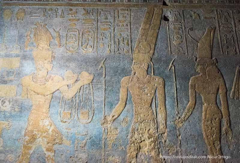 relieves del templo de Mut en Karima