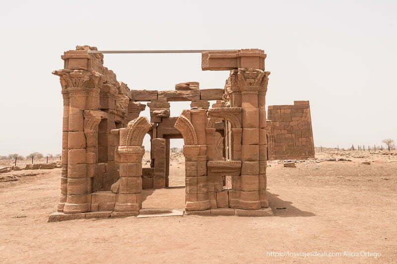 quiosco romano de Naqa en Sudán