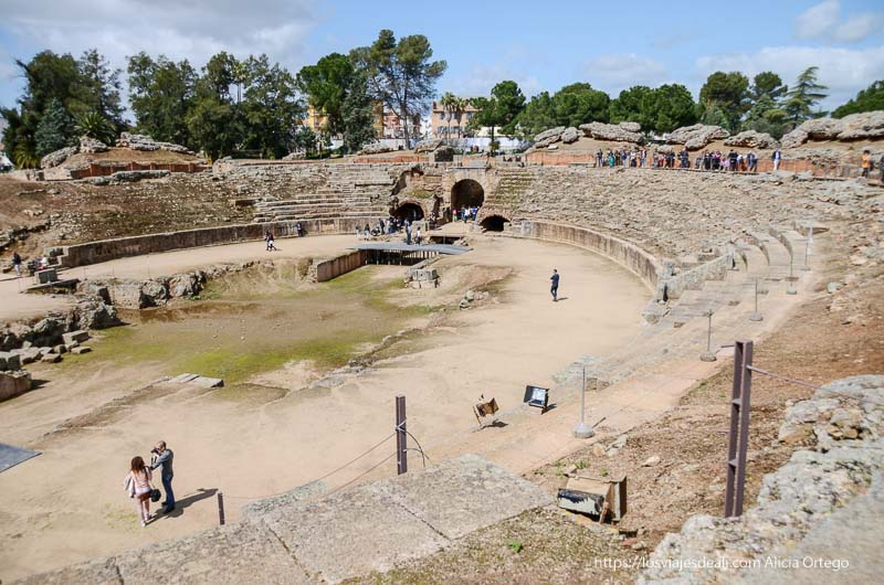 panorámica del anfiteatro romano de mérida