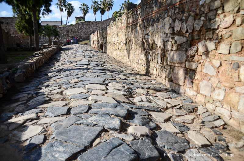 calle empedrada de la alcazaba de mérida