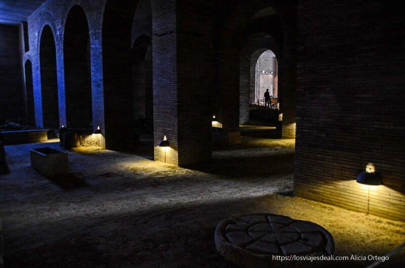 sótanos del museo de arte romano de mérida