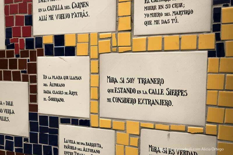 versos a Triana en el monumento a su cerámica