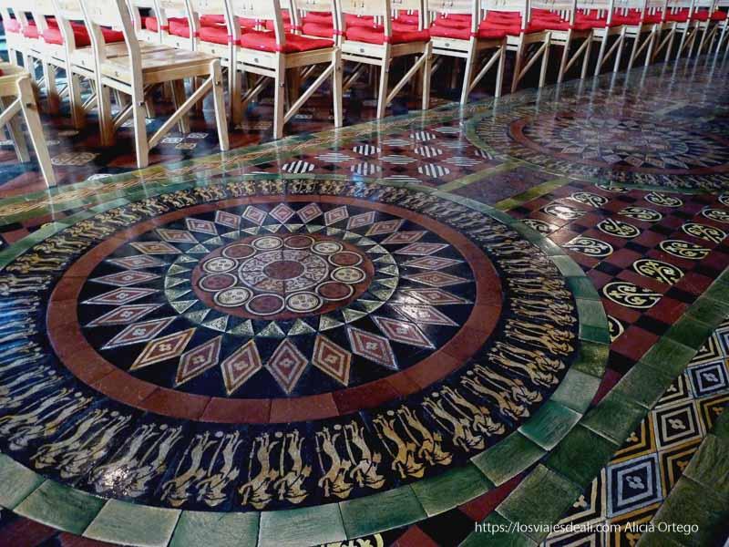 suelos de cerámica con dibujos y colores Christ church cathedral de dublin
