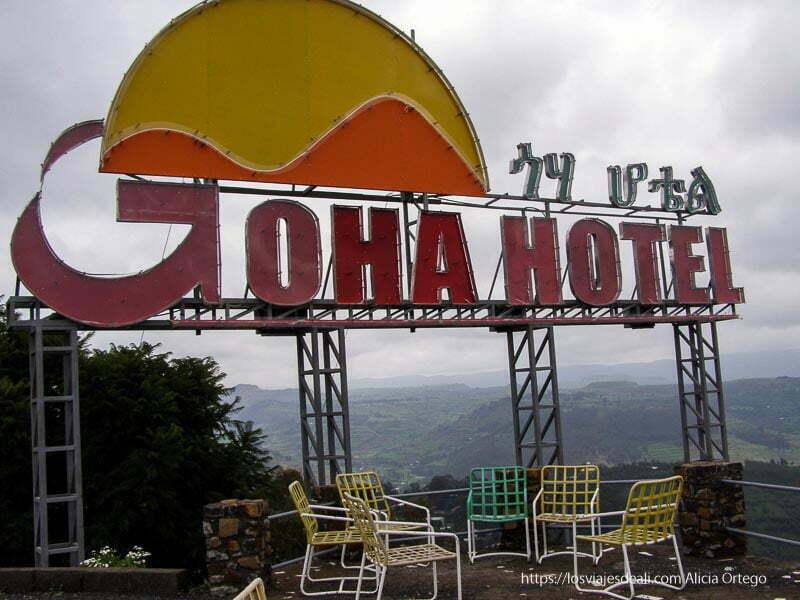 cartel del hotel de gondar