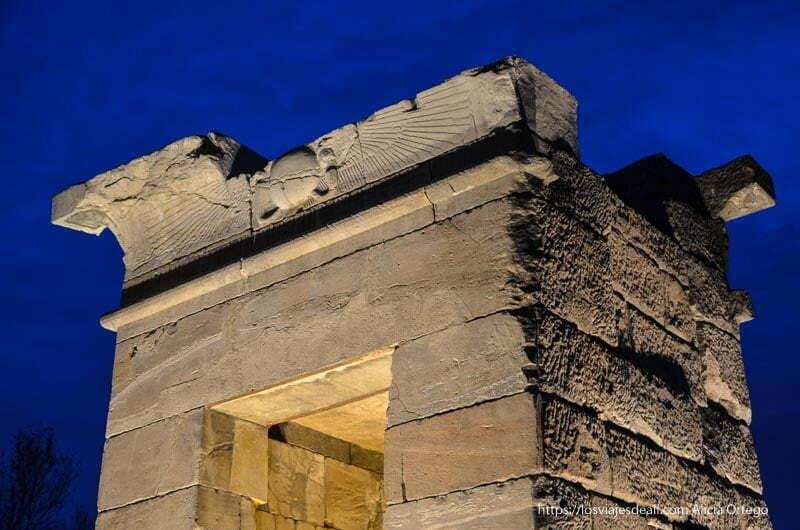 detalle del Templo de debod