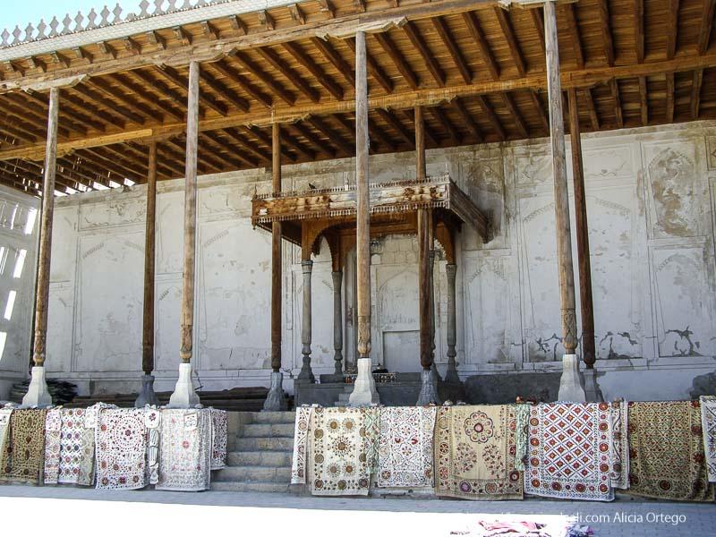 lugar del trono en antiguo palacio real de bukhara