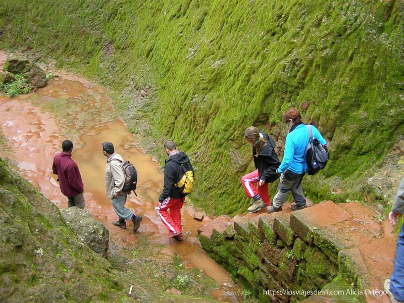 grupo de turistas andando por iglesias de lalibela y tú cómo viajas