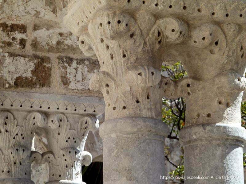 columnas de claustro iglesias y mercados de palermo