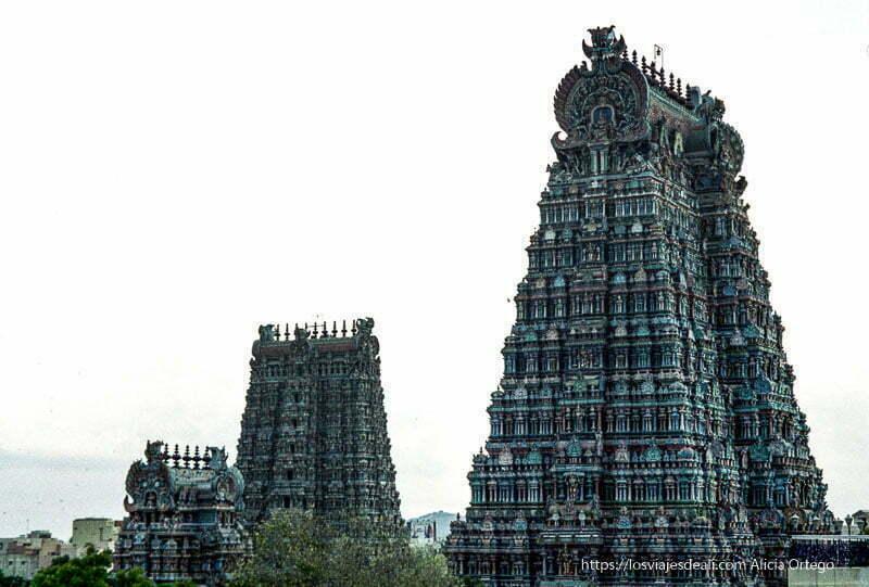 templos multicolores de madurai en tamil nadu