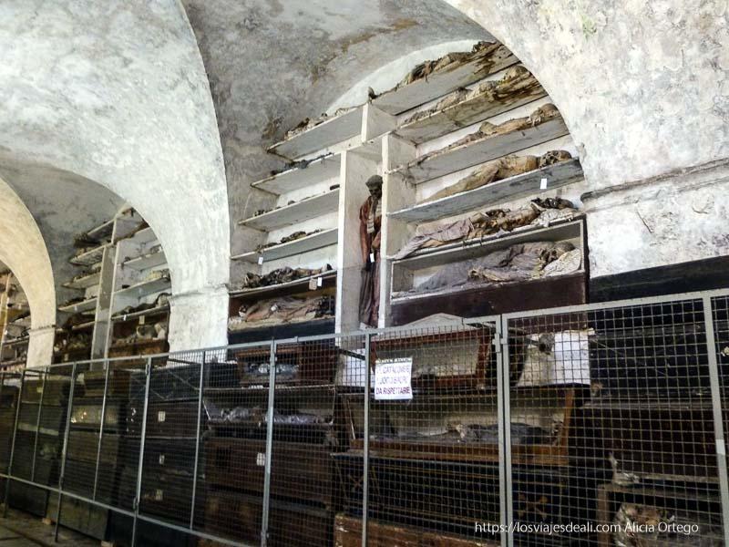 sala llena de momias tumbadas en catacumbas de capuchinos palermo desconocido