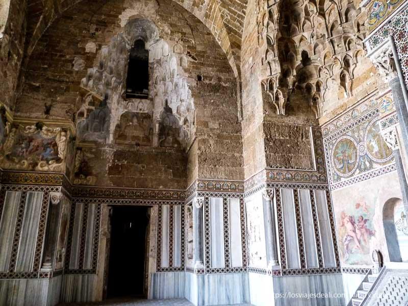 interior castillo della zisa sala de antigua mezquita palermo desconocido