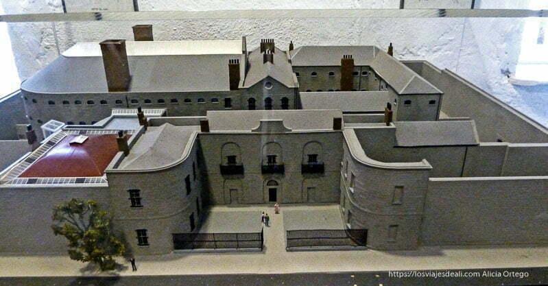 maqueta de la prisión de kilmainham