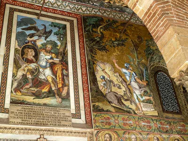 paredes llenas de mosaicos en el palacio de normandi qué ver en palermo