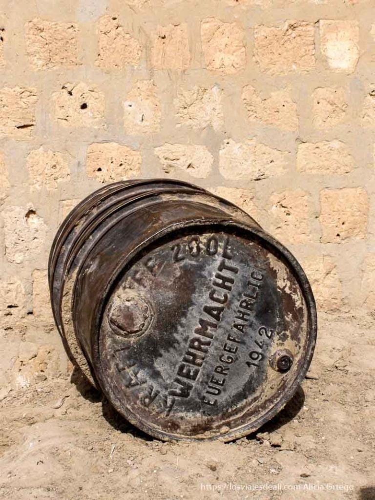 bidón de la wehrmacht de 1942 en tombuctú