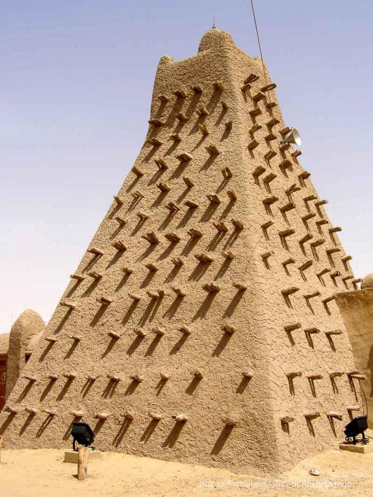 mezquita de arquitectura saheliana en tombuctú