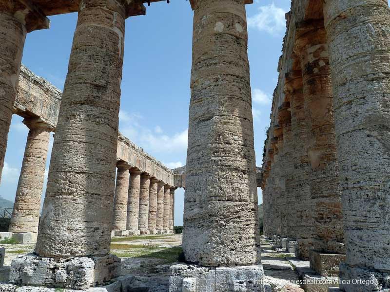 columnas del templo del yacimiento de segesta