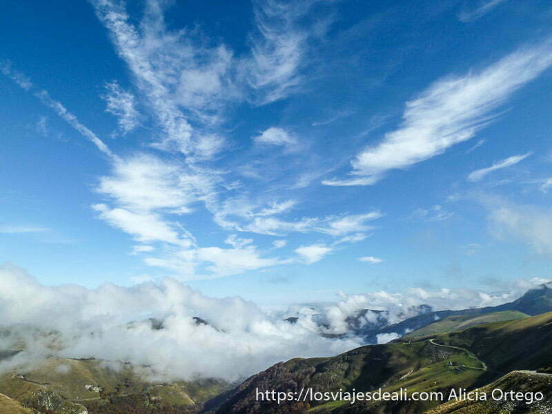 paisaje del pirineo navarro desde arriba