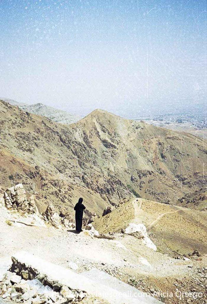 vistas de los montes que rodean teherán