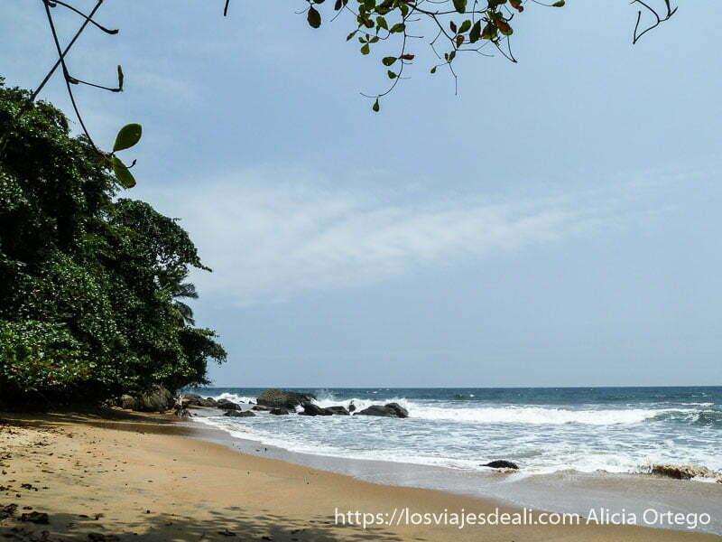 playa de la costa del sur de camerun