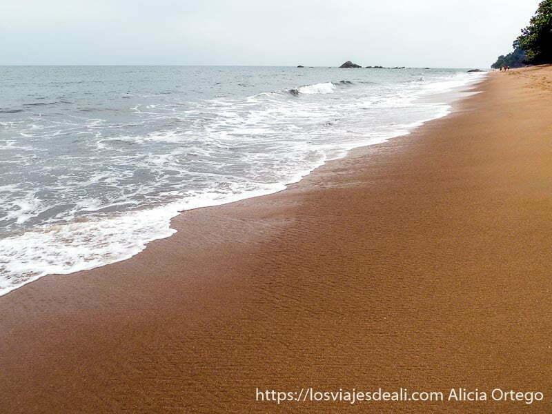 playa de la costa del sur de camerun con rocas en el agua